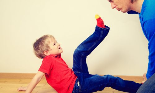 father and little son conflict, problems in family